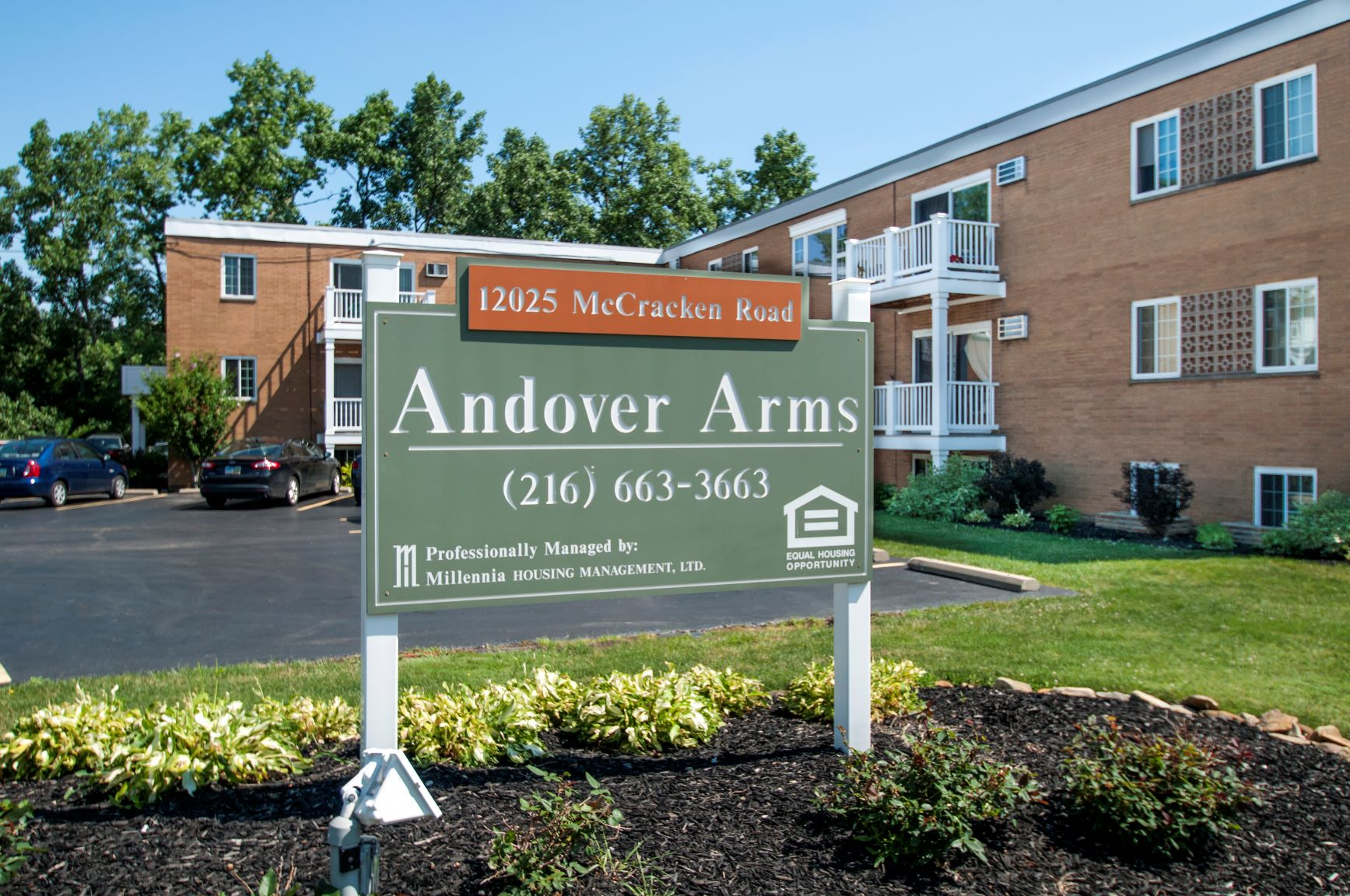 Andover Arms Apartment Sign